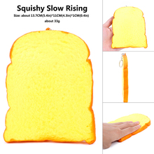 Squishies  Toast Squishy squish Bread Slow Rising Soft Squeeze Stuffed Kids Toys china  squeeze relieve stress christmas  Gifts china rising
