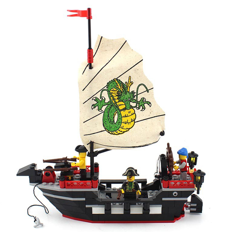 211pcs Pirate Ship Assembled Assembly Plastic Building Blocks Children Toy Kids 6 Years Toys Kids Woods DIY Gift K0159-301 2017 hot sale forest animals children assembled diy wooden building blocks toys baby toy best gift for children ht2265