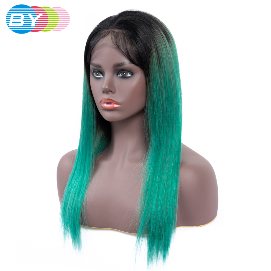 BY 4 4 Short Lace Front Ombre Human Hair Wigs Bob Wig Full and Thick For
