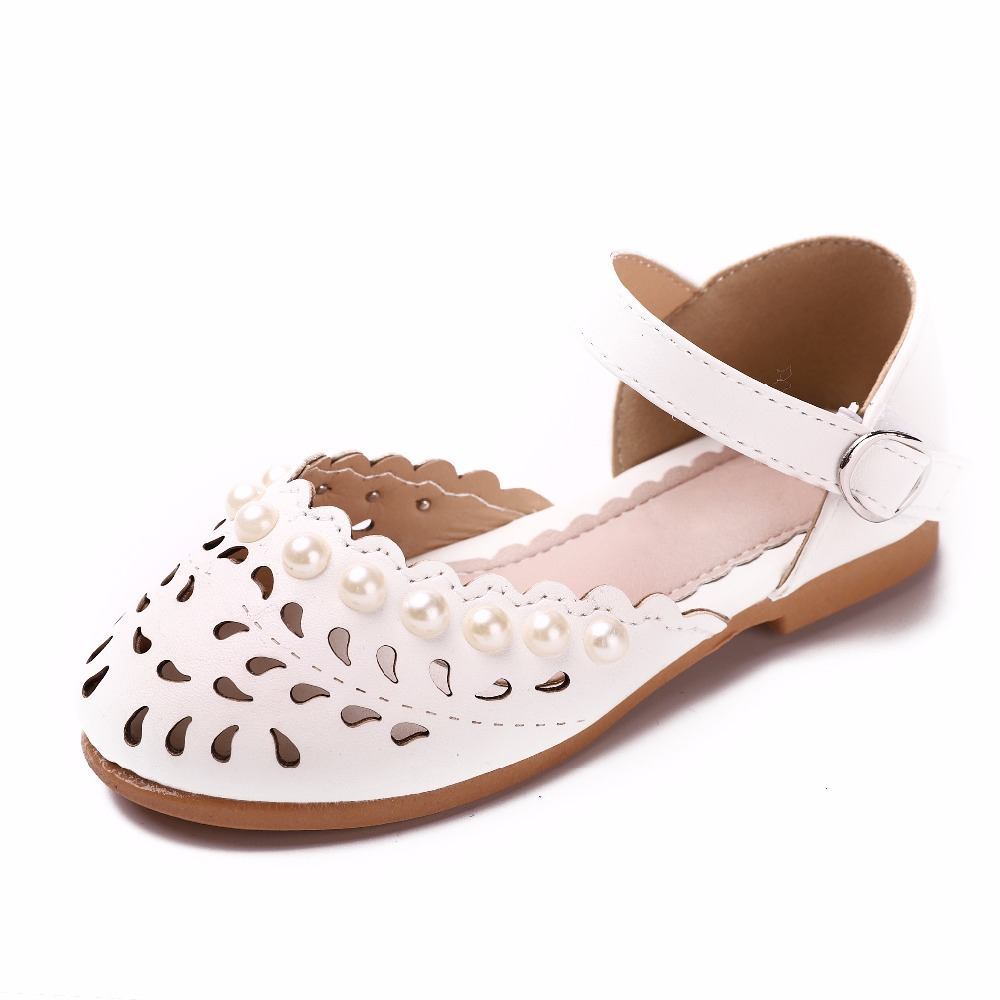 Girls sandals Summer toddler sandals flat shoes Fashion Pearl ... b1c75f8858f3