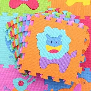 Image 4 - مجموعة مكونة من 9 قطعة/المجموعة من سجادة لعب الأطفال مصنوعة من الفوم إيفا سجادة زاحفة للأطفال سجادة كروبن للأطفال سجادة ألغاز مجمعة على شكل حيوانات لألعاب الأطفال