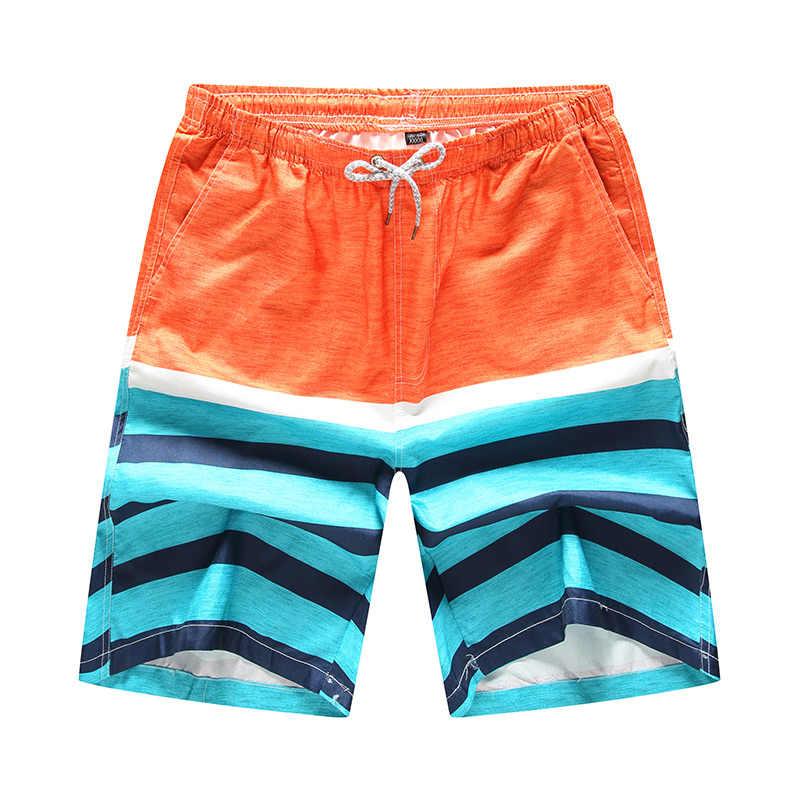 Męskie spodenki Surf Board szorty Homme bermudy krótkie spodnie szybkie pranie Silver boardshorty 2018 nowy lato Sport spodnie plażowe 3D drukuj