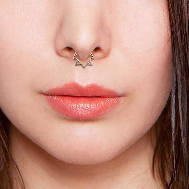 Купить пирсинг носа в стиле панк перегородки из нержавеющей стали 316l