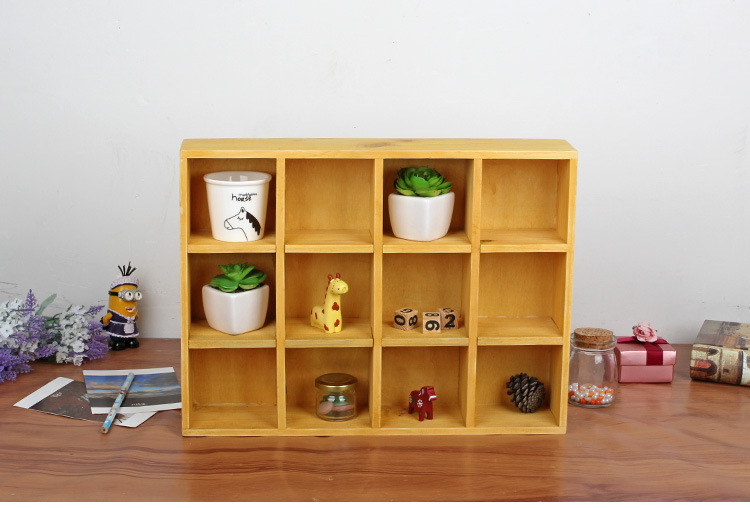 1pc Z Grocery Storage Cabinets Old Solid Wood Display Off The Living Room 12 Lattice Box Jl 0963 In Bo Bins From