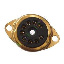 Wholesale and retail 4pc 9Pin Gold Vacuum TUBE SOCKET SAVER MOUNT FR 12AX7 12AU7 ECC82 ECC83 radio free shipping