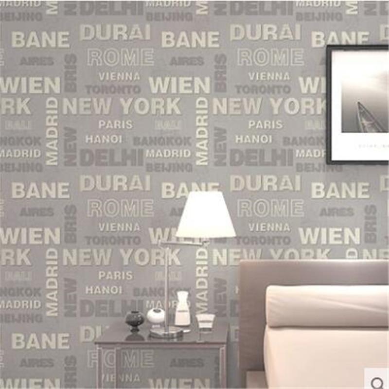 Beibehang mode 3D papier peint lettre alphabet salon moderne minimaliste canapé TV fond papier peint papier peint papier de parede