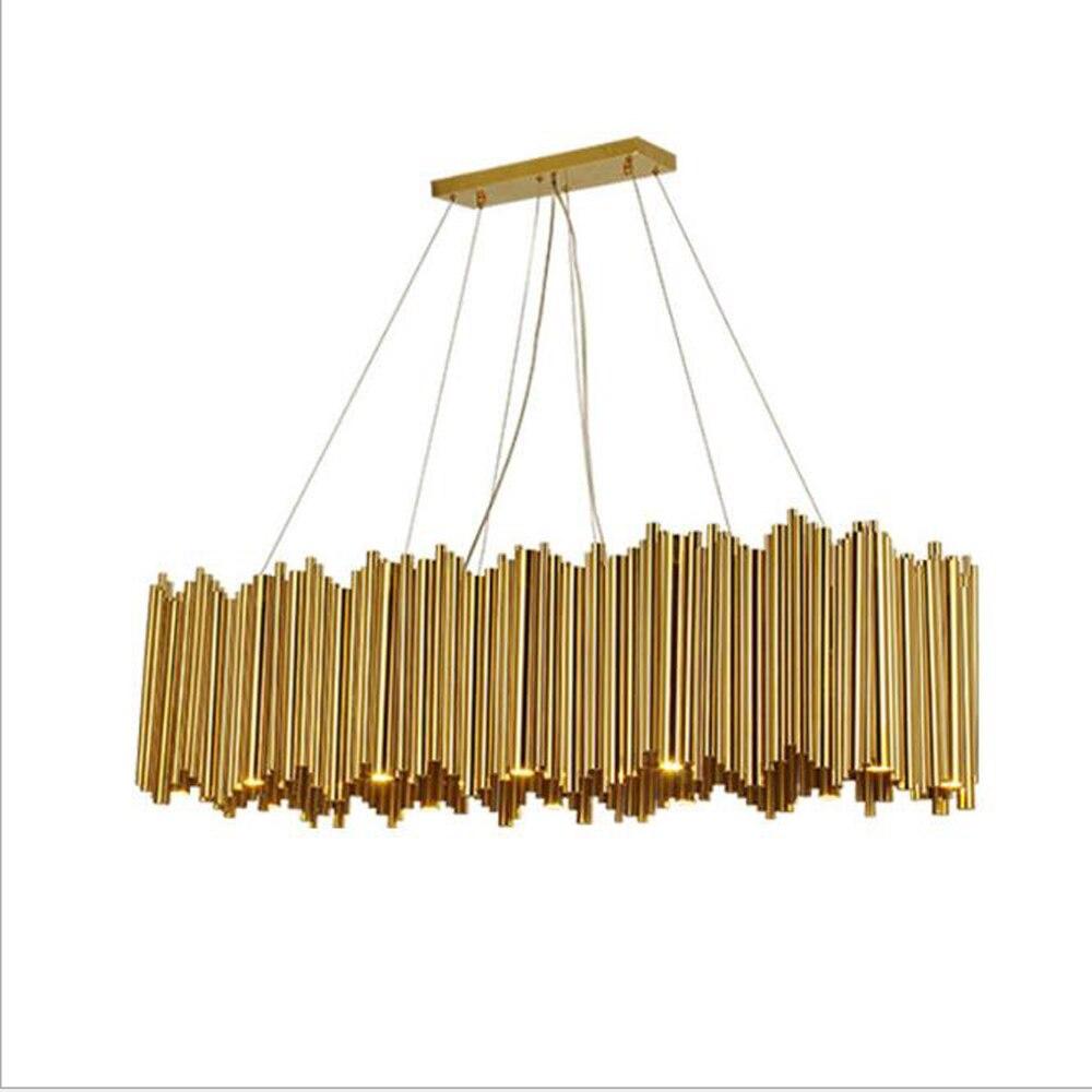art decor design modern chandelier living room LED lamp AC110V 220V gold shop hotel hanging lights