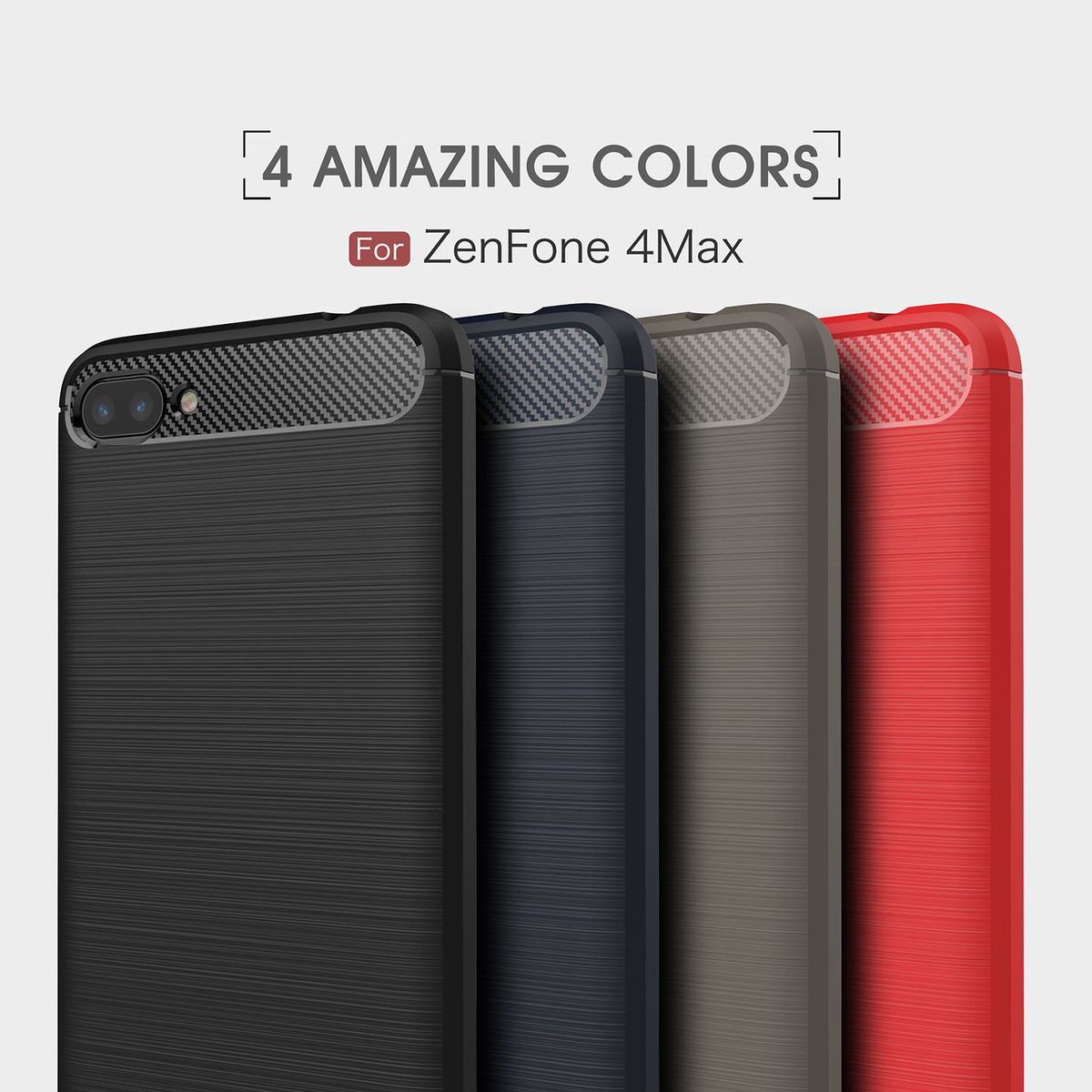 Cases for Asus Zenfone 4 Max ZC520KL ZC 520KL 520 <font><b>Kl</b></font> Silicon Phone Back Cover For Zenfone4 Max <font><b>ZC520</b></font> <font><b>KL</b></font> Pure Color Phone Housing image