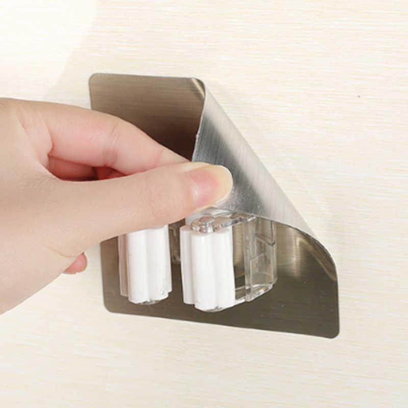 الحائط ممسحة حامل مُنظِم رف الجدار شنقا سلس مسمار خالية مكنسة شماعات ممسحة كليب بطاقة مقعد أدوات المنزلية