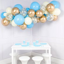 40pcs Balloon Set 12inch Blue White Macaron Gold Chrome Alloy Confetti Balloons Garland Wedding Birthday Baby Shower Party Decor