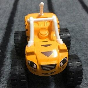 Image 3 - Juego de 6 unidades de camiones y camionetas milagrosos rusos para niños, juguetes Blazed Machines, juguetes para niños, regalos de cumpleaños