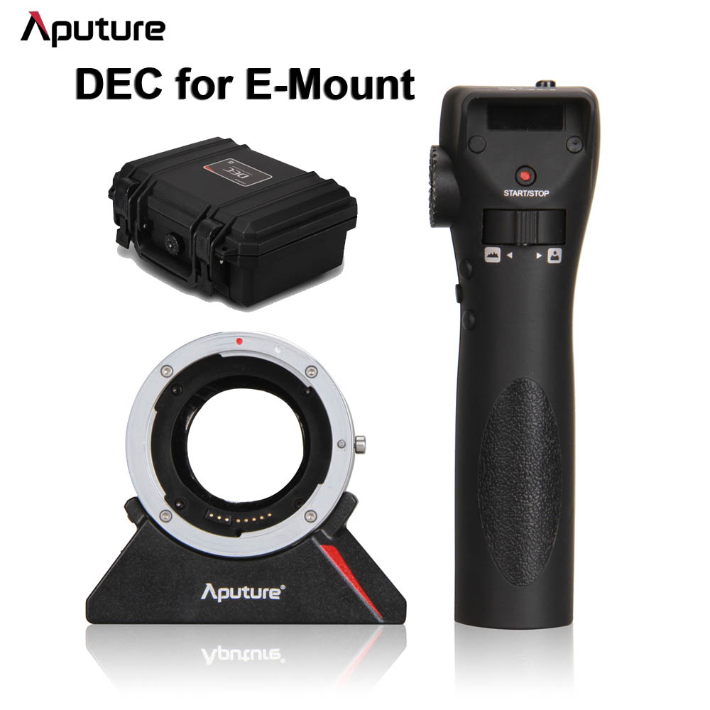 Aputure DEC Remote Controller Wireless Follow Focus Adapter for Canon EF EF-S Lens to Sony E-Mount Camera Driving Eos for Cine viltrox ef nex iii auto focus adapter for canon eos ef ef s lens to for sony e nex a7 a7r a7sii a7ii a6300 a6000 full frame