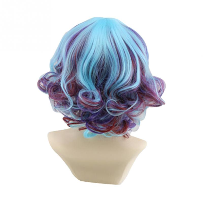 Lolita Paterson Charming Fancy Graded Color High Temperature Fiber Short Curly for Cosplay,Nightclub
