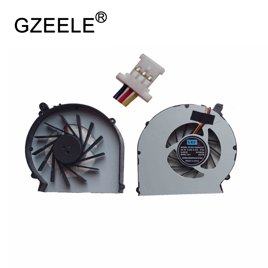 GZEELE New CQ43 CQ57 Laptop Cpu Cooling Fan For HP Compaq CQ43 G43 CQ57 Laptop Fan G57 430 431 435 436 630 635 Cpu Fan Cooler