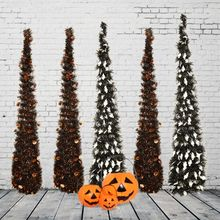 3.5ft /106cm Easy-Assembly Collapsible Tower-Shaped Christmas Tree Tinsel Coastal Christmas Tree for Christmas Decorations