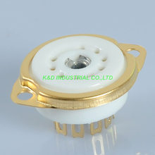 5pcs 9pin Ceramic Tube Socket mount gold valve base for 12AX7 12AU7 ECC83 6922 for Tube Amlifier 2pcs 4pcs psvane 12au7 tii tube diy hifi markii 12au7 ecc83