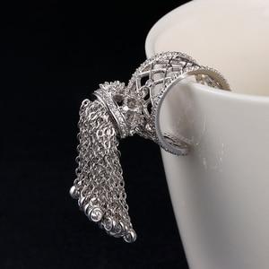 Image 3 - Anneaux de couronne de gland Royal de luxe pour les femmes avec la meilleure qualité cubique Zircon réglable anneau de gland bague femme AR014
