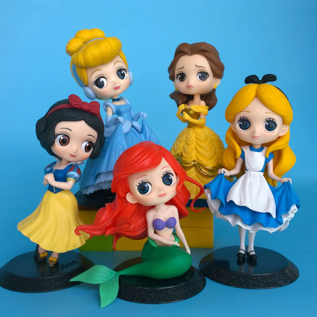 Qposket Characters Belle Beauty And The Beast Little Mermaid Snow White Figure Cute Toy Statue