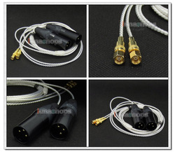 3pin XLR PCOCC + Silver Plated Cable for HiFiMan HE400 HE5 HE6 HE300 HE560 HE4 HE500 HE600 Headphone LN004728