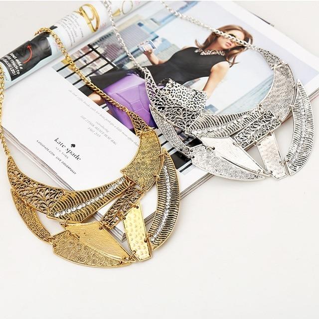 lzhlq винтажные полые панк ожерелья 2021 женские геометрические фотография