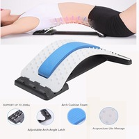 2018 NEW Back Massage Magic Stretcher Lumbar Support Waist Neck Relax Mate Device Sciatica and Back Pain Relief
