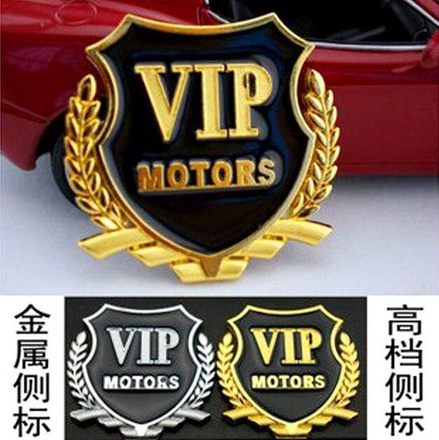D Metal Auto Car Logo Sticker VIP Decals Alloy Car Engine Cover - Custom car window decals metal