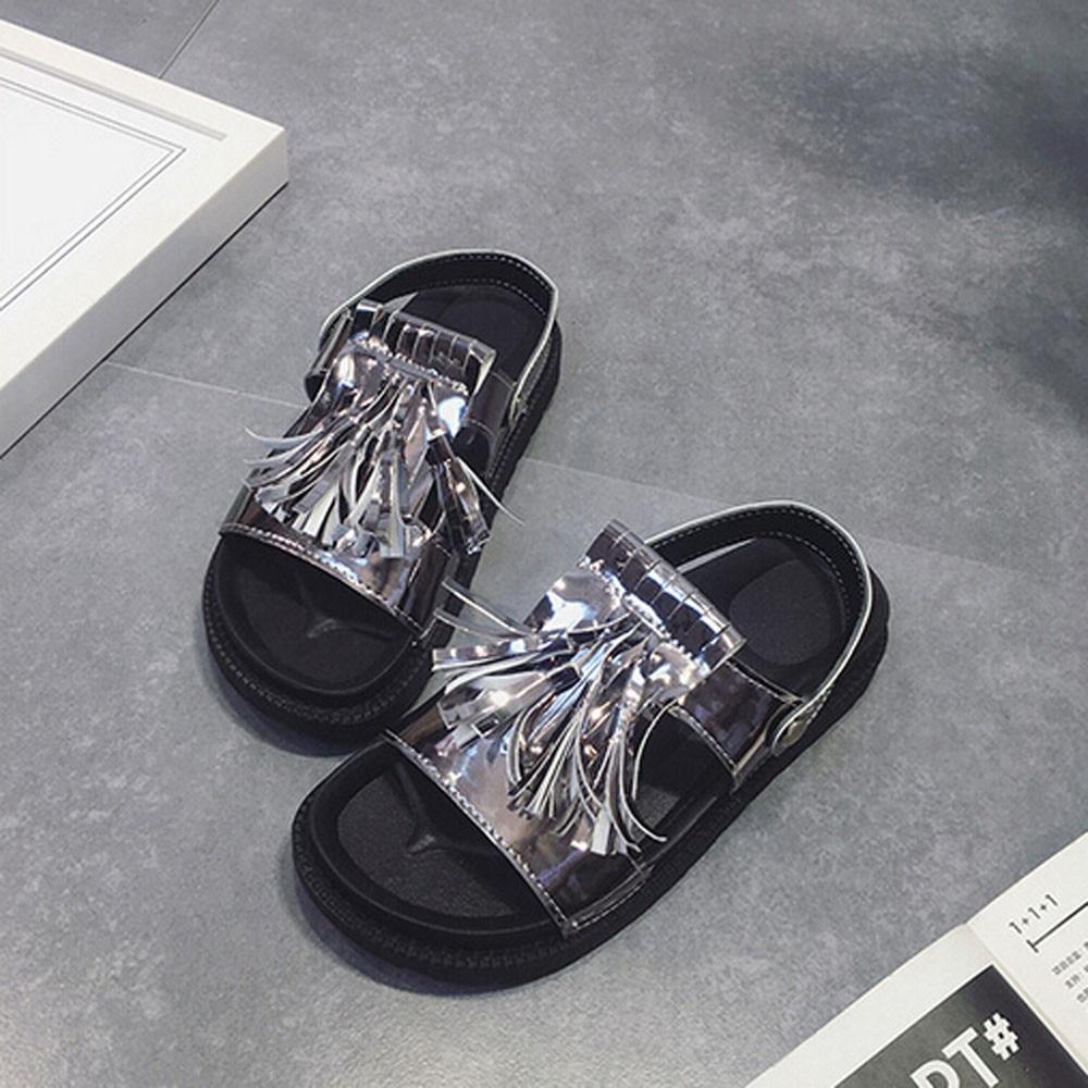 Sandals shoes sale - Women Comfort Sandals Summer Hot Sale 2017 Tassel Sandals Casual Shoes Leather Flat Peep Toe Student