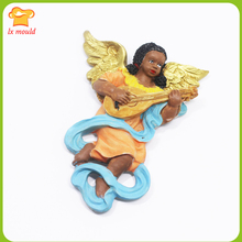 LXYY MOULD New DIY Musical Instrument Angel Fondant Aromatherapy Gypsum Candle Silicone Mold Wings