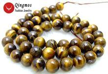 Женские круглые серьги qingmos 8 мм коричневые из натурального