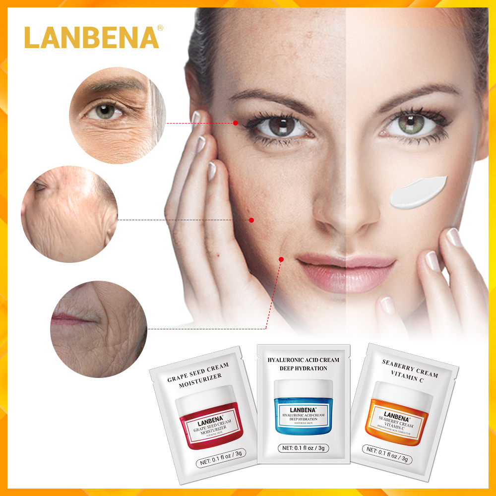 LANBENA Face Cream Moisturizing Whitening Facial Serum Anti Aging Wrinkle Removal Skin Care Essence Acne Treatment Beauty Makeup