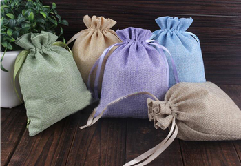 16*20 120pcs Mixed Jute Drawstring Sacks gift bags with jewelry/Accessories/Cosmetic/wedding/christmas Linen pouch Packaging Bag