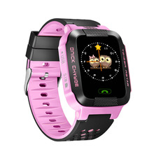 Bebê Crianças GPS Relógio Inteligente Com Câmera Lanterna G21 Relógios SOS Chamada Dispositivo de Localização Rastreador para o Miúdo PK Seguro Q100 q90 Q60 Q50