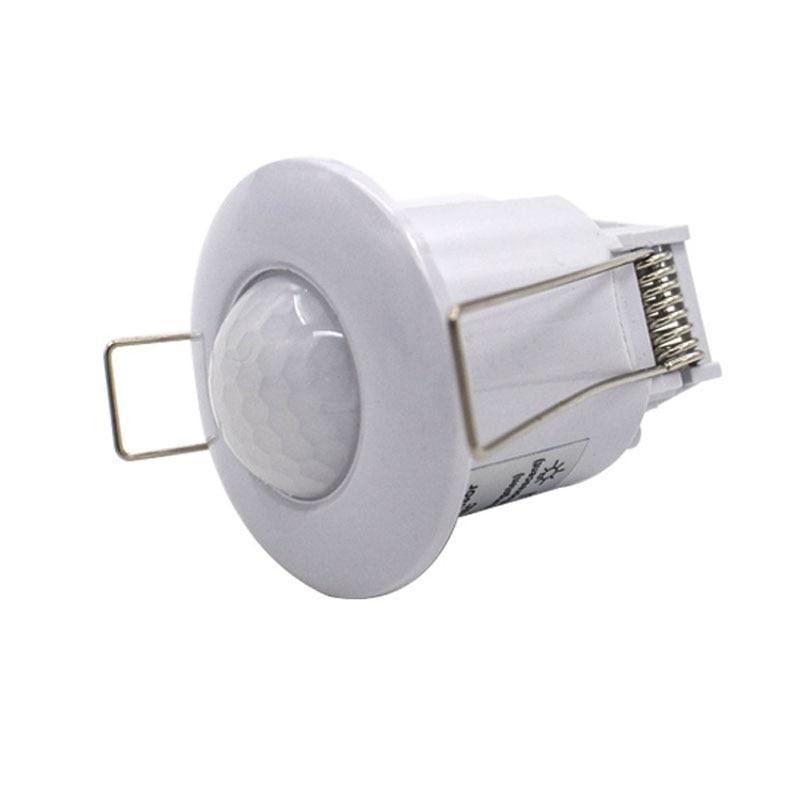 Высокое качество AC110V-240V 50 Гц 360 градусов Мини утопленный PIR потолочный датчик движения датчик переключатель бесплатная доставка