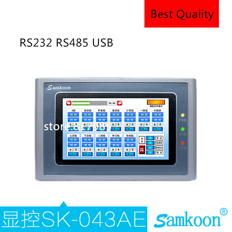 все цены на Samkoon touch screen HMI TP 4.3 inch for industrial PLC with RS232+ RS485 + USB +touch panel touch screen онлайн