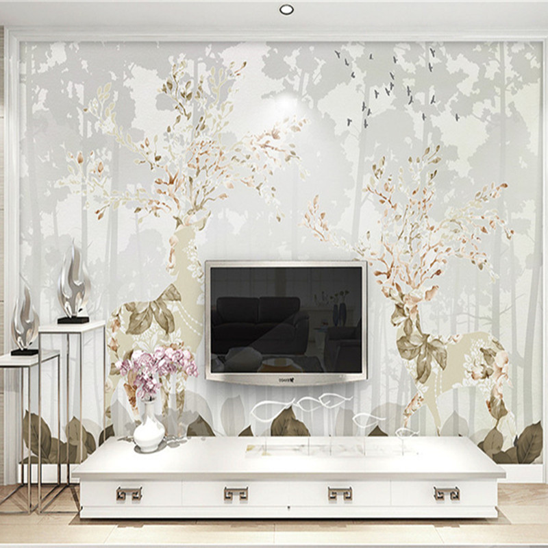 Custom Any Size 3D Wallpapers Modern Simplicity 3D Wall Mural Minimalist Style Living Room Sofa Backdrop Non-Woven 3D Wall Paper 3d wall mural european wallpaper living room watercolor cartoon elk deer wall paper pastoral 3d wall murals non woven wallpapers