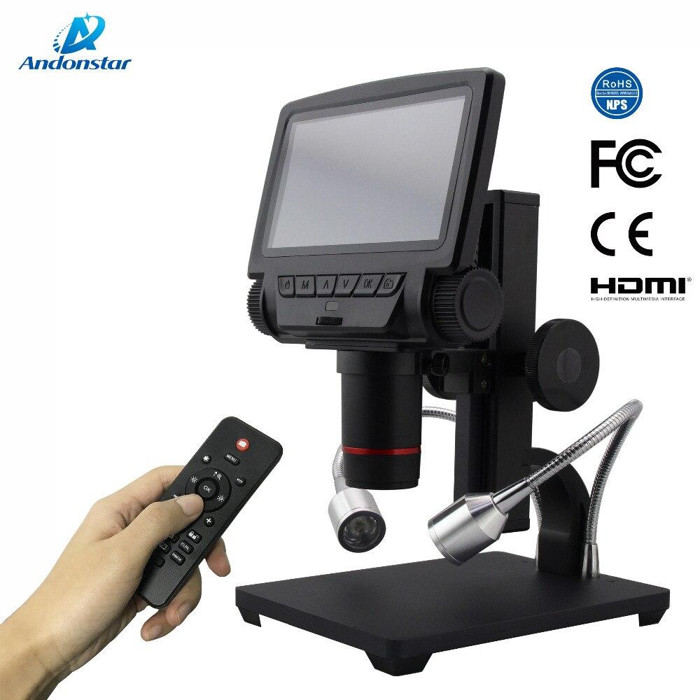 AndonstarNew HDMI/AV microscope longue distance d'objet numérique USB microscope pour la réparation de téléphone portable outil de soudage bga smt montre