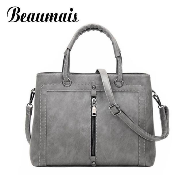 Beaumais 2016 Retro Top-Handle Bags Handbag Women Tote Clutch Ladies Designer Shoulder Crossbody Bags Vintage Zipper Bolsa HC291