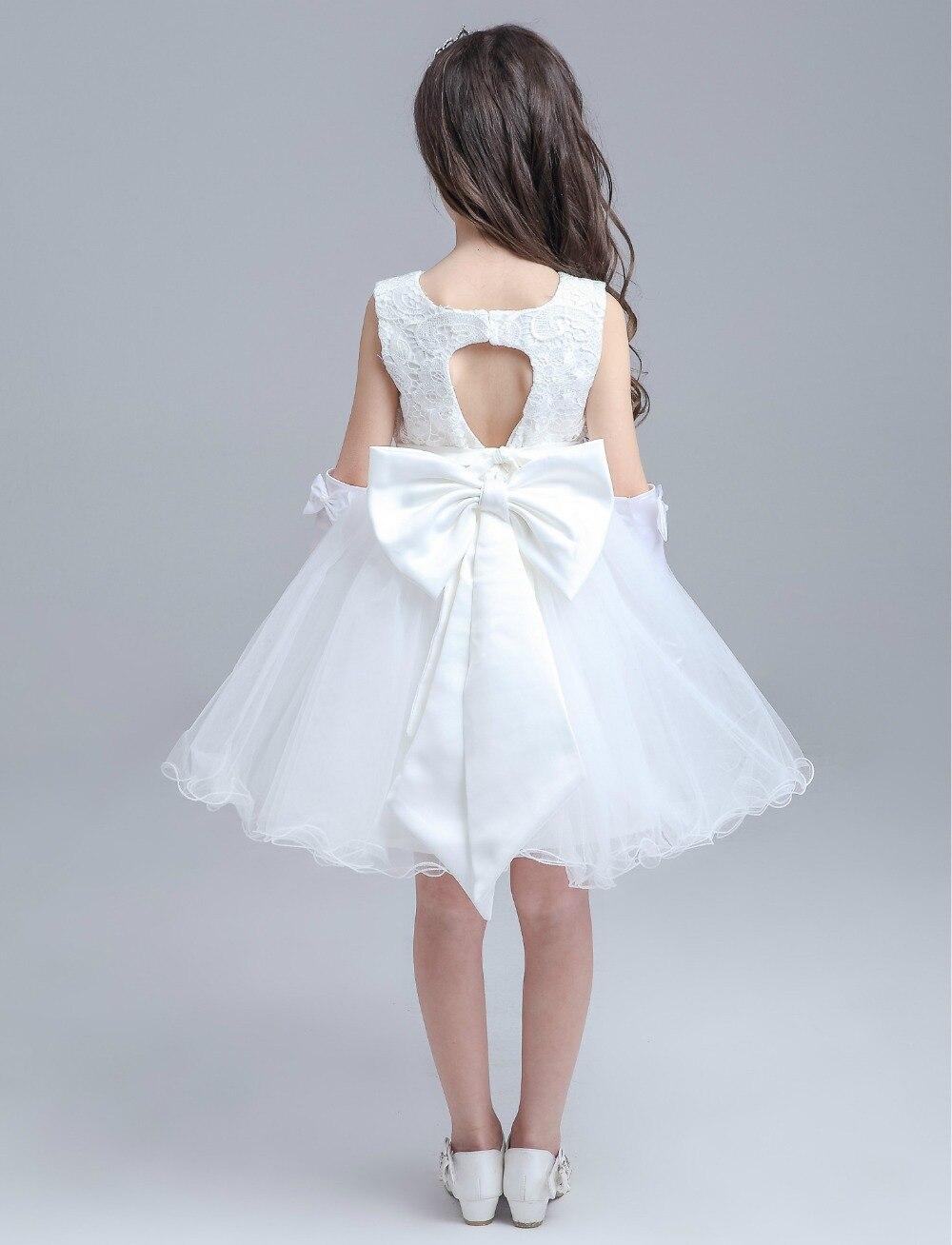 White Girl Birthday Wedding Party Formal Flower Girls Dresses Little ...