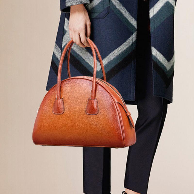 Luxury Fashion Retro 100% Genuine Leather Women Shell Bag\Handbag,Cowhide Shoulder bag\ Tote Bag~13B58 luxury genuine leather bag fashion brand designer women handbag cowhide leather shoulder composite bag casual totes
