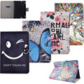 New Wallet Flip PU Leather Case Flowers Stand Cover For Amazon Kindle Fire HDX7 HDX 7 7'' Fashion Tablet with Credit Card Slots