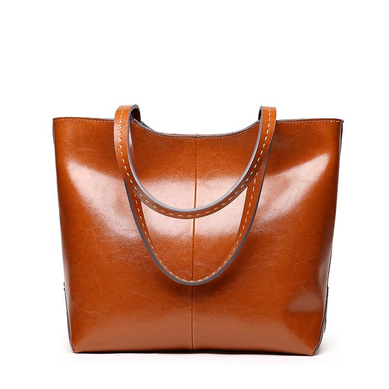LUODUN2018 Nya läderväskor läder axelväska väska parti - Handväskor - Foto 3
