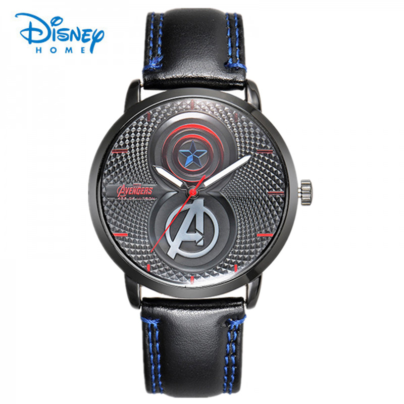 100% Genuine Disney Fashion student watch men iron man captain America The avengers alliance leisure mens cool men quartz watch