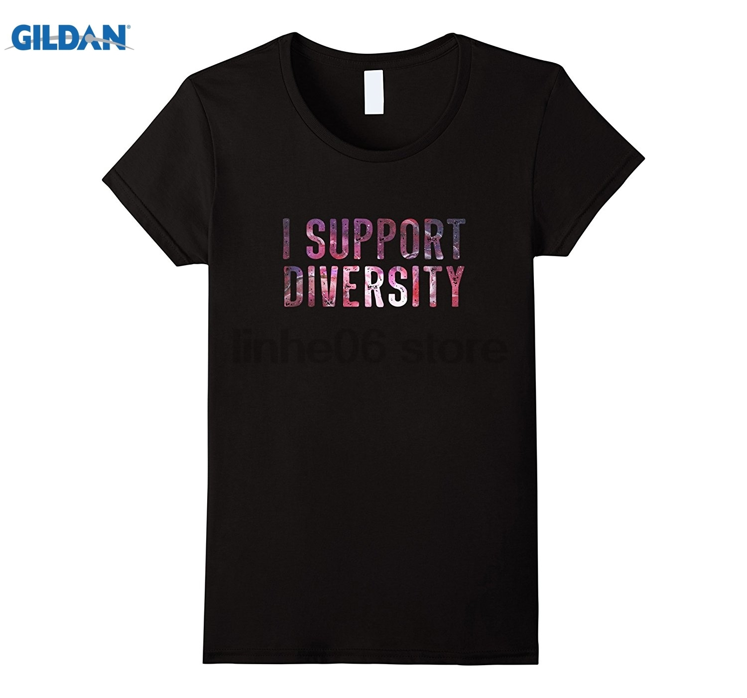 GILDAN I support diversity shirt Dress female T-shirt ...