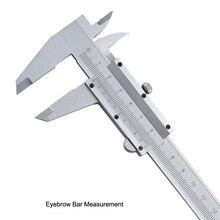 "Eyebrow Bar Measurement 6"" 0-150mm/0.02mm Metal Calipers Gauge Micrometer Measuring Tools Eyebrow Measurement For Tattoo"