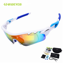 WILDCYCLE Polarized Cycling Glasses Men Outdoor Sports Bicycle Eyewear UV400 MTB Bike Sunglasses Goggles 5 Lens Gafas Ciclismo