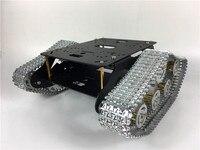 TS300 версия двойного демпфирования цистерны шасси Алюминий сплава гусеничный беговых Интеллектуальный автомобиль