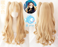 FGO Fate Grand Order Ereshkigal Cosplay Wig Servant Lancer Ponytails Blond Facial Hair