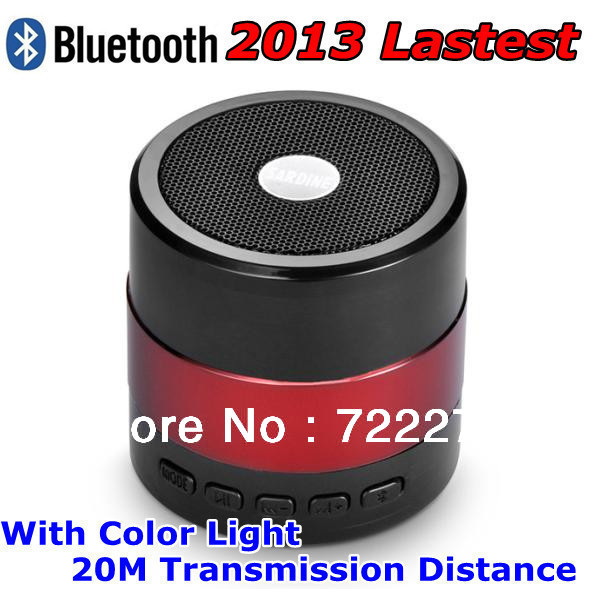 2013 Latest Mini Portable Wireless Stereo Bluetooth Speaker support TF Card USB MP3 FM Radio High Quality -Free Shipping