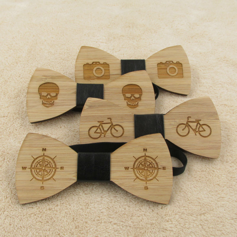 Bowtie Butterfly Ties For Men Wooden Bow Tie Classic Style