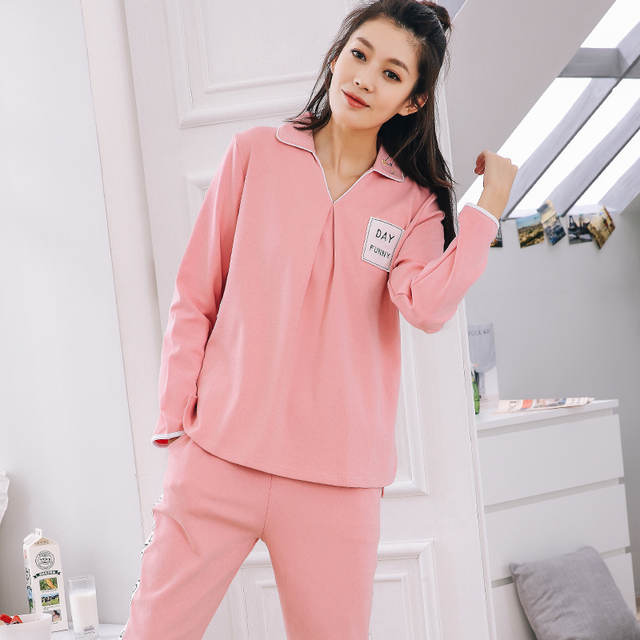 5ccfd95665 placeholder Autumn Winter Women Pyjamas Cotton Clothing Long Tops Set  Female Pyjamas Sets Night Suit Sleepwear Women